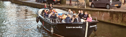 Amsterdam canal cruise with drinks