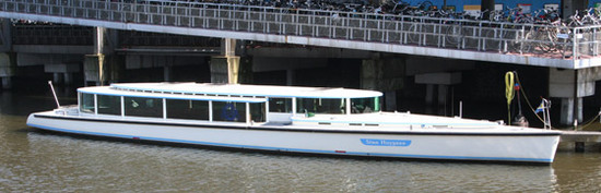 Canal boat Stan Huygens Amsterdam