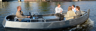 Self operated open boat MokumBoot Amsterdam